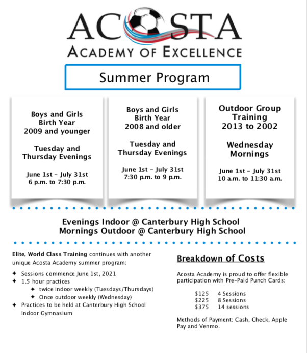 Acosta Academy 2021 Summer